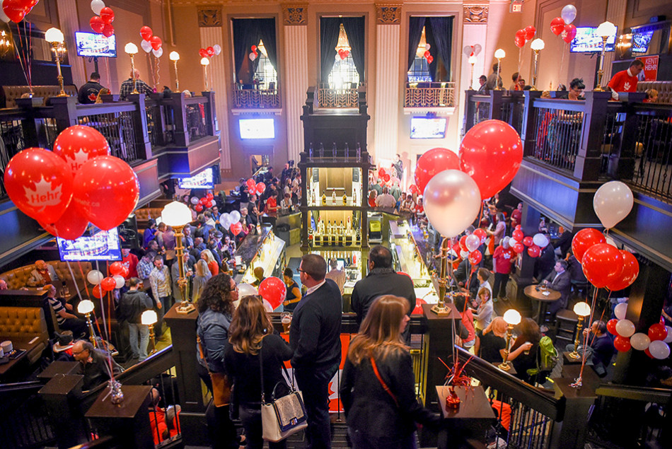 Election Celebration: Hundreds of Liberal supporters turn out to support Kent Hehr, Matt Grant and the other Liberal party candidates on election night. The event took place at the Bank & Baron Pub in downtown Calgary. (Photo by Tyler Marr/The Press)